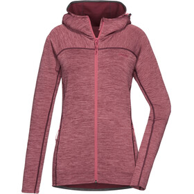 PYUA Foxy Hooded Jacket Women mahogany red